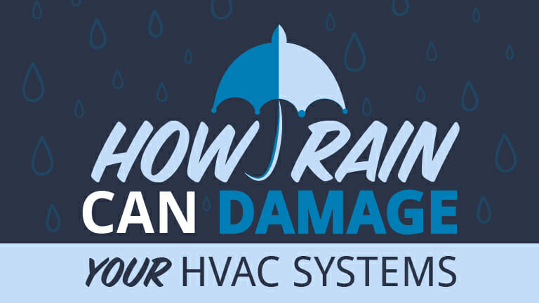 How Rain Can Damage Your HVAC System - Appolo Heating