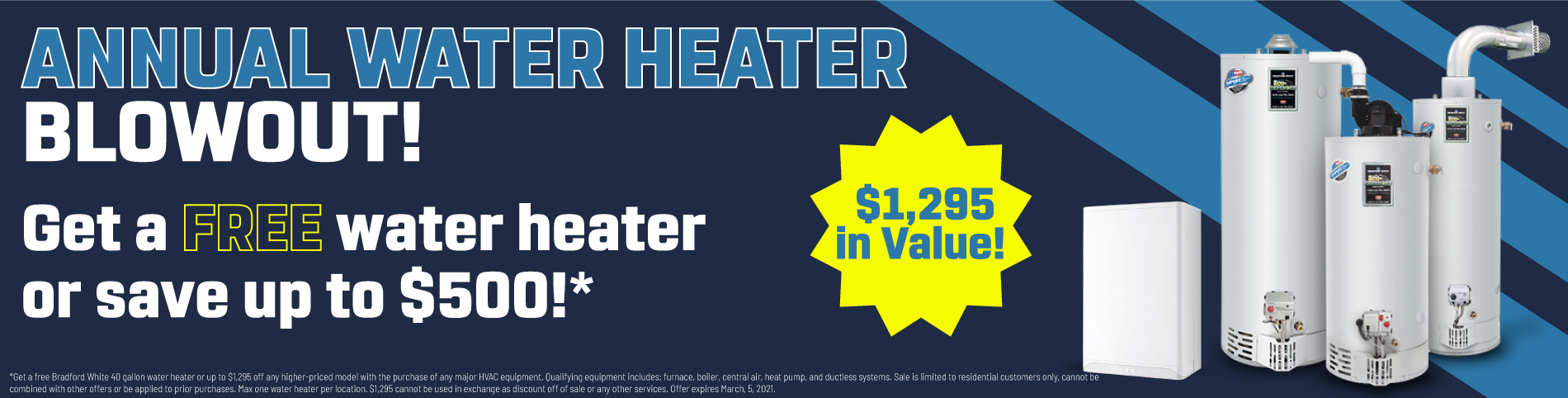 Water Heater Blowout