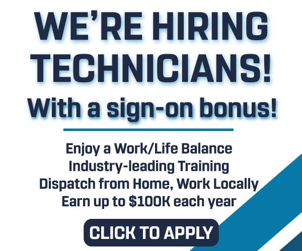 We're Hiring Technicians!
